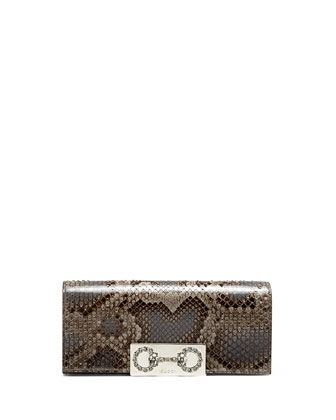 Broadway Python Crystal Horsebit Clutch Bag