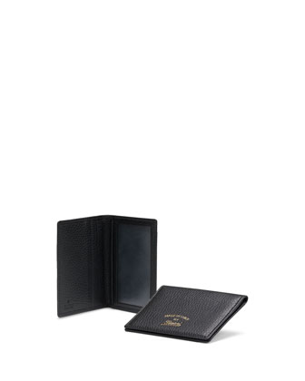 Swing Leather Train Pass Cardholder, Black