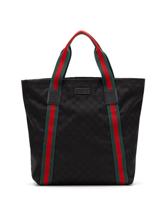 Original GG Canvas North-South Tote Bag, Black