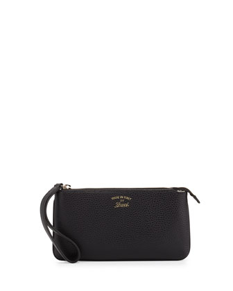 Swing Leather Wristlet, Black