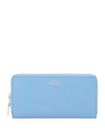 Panama Large Zip Wallet, Blue