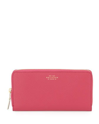 Panama Large Zip Wallet, Fuchsia