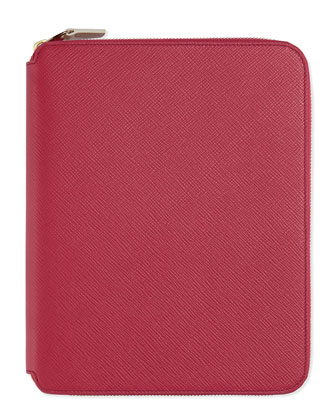Panama A5 Zip Folio & Journal, Fuchsia