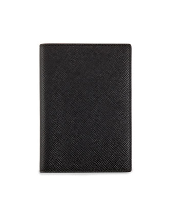 Panama Leather Passport Cover, Black
