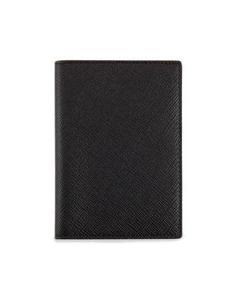 Panama Leather Passport Cover, Black
