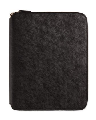 Panama A5 Zip Folder with Notebook, Black