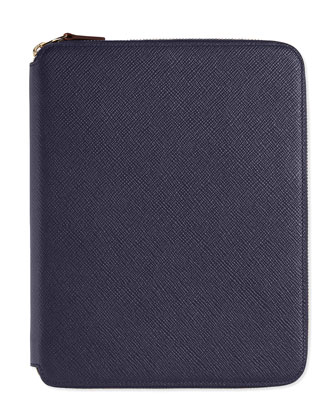 Panama A5 Zip Folder with Notebook, Navy