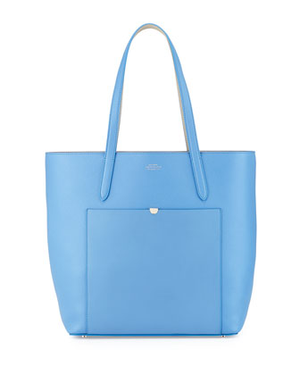 Panama North-South Tote Bag, Blue