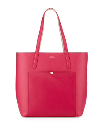 Panama North-South Tote Bag, Fuchsia