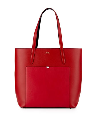Panama North-South Tote Bag, Red