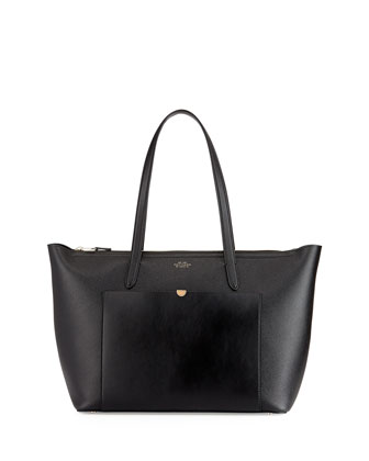 Panama East-West Zip Tote Bag, Black