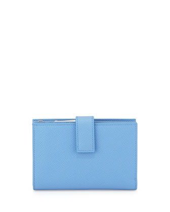 Panama Medium Continental Wallet, Blue