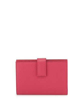 Panama Medium Continental Wallet, Fuchsia