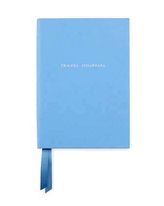 Leather Travel Journal, Blue