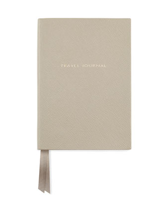 Leather Travel Journal, Gray