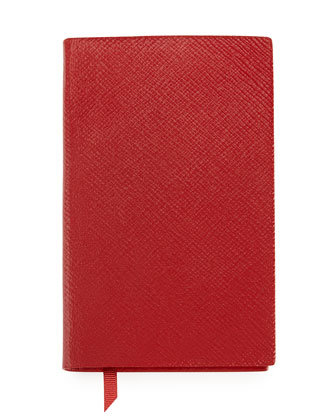 Panama Lambskin Notebook, Red