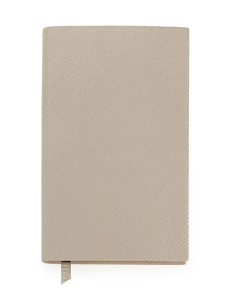 Panama Lambskin Notebook, Gray