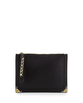 Nina Wristlet Clutch Bag, Black