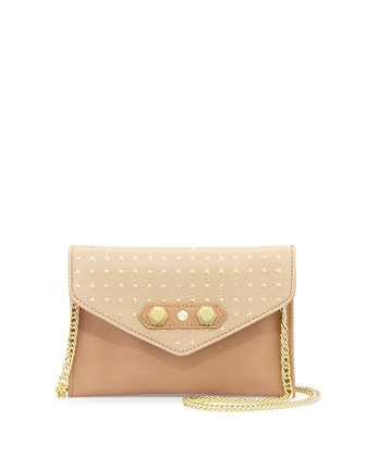 Tina Studded Crossbody Bag, Nude