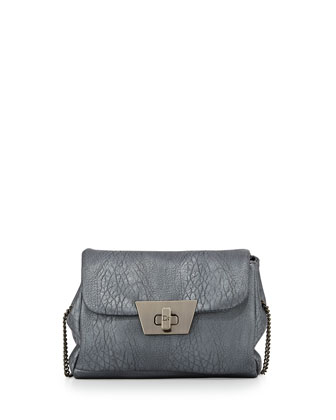 Jenna Faux-Leather Crossbody Bag, Gunmetal