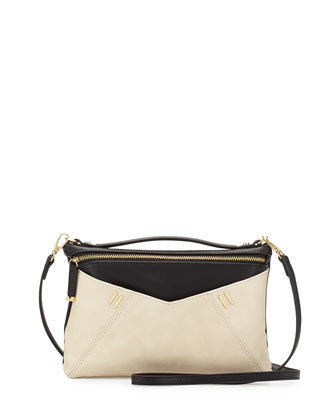 Arielle Crossbody Bag, Black/Bone