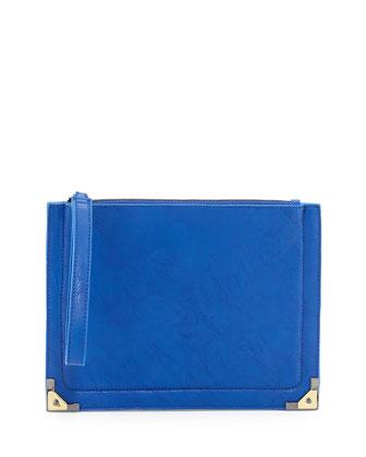 Nina Wristlet Clutch Bag, Cobalt