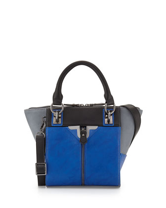 Alexa Mini Crossbody Bag, Cobalt Colorblock