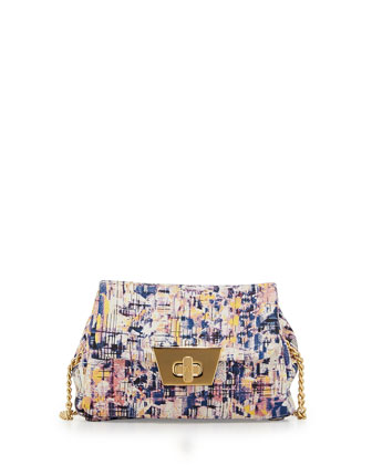 Jenna Faux-Leather Crossbody Bag, Multicolor Print