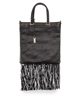 Runway Lover Fringe Shopper Tote Bag