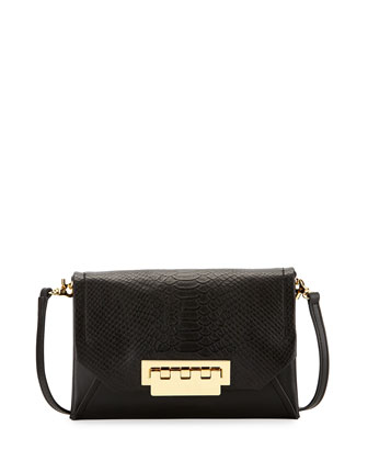 Eartha Snake-Print Crossbody Bag