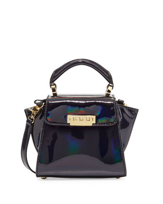 Holographic Eartha Mini Crossbody Bag, Petrol