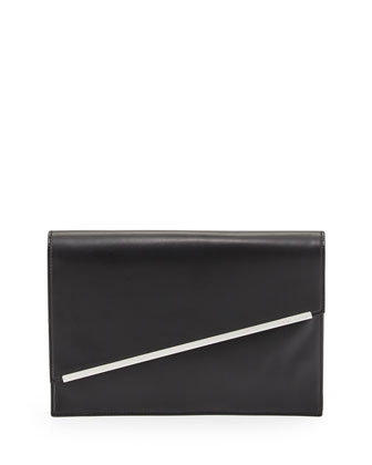 Kensington Asymmetric Envelope Clutch Bag, Black