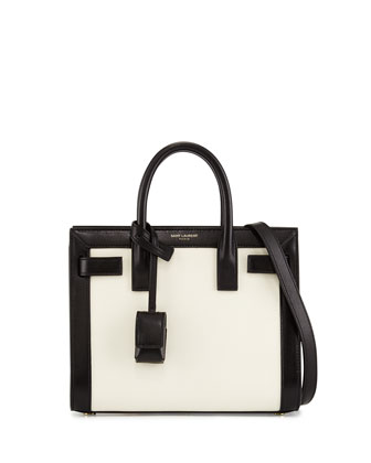 Sac de Jour Mini Crossbody Bag, White/Black