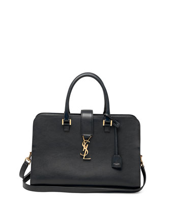 Monogram Small Zip-Around Satchel Bag, Black
