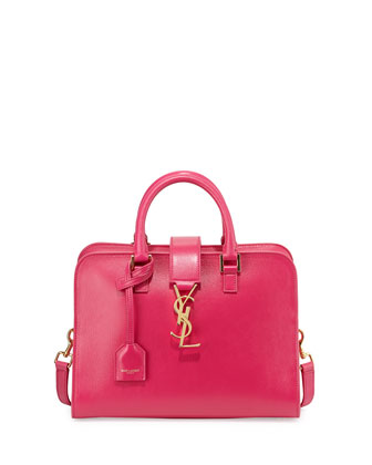 Monogramme Small Zip-Around Satchel Bag, Fuchsia
