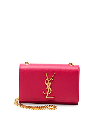 Monogram Small Crossbody Bag, Fuchsia