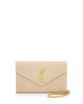 Monogramme Matelasse Shoulder Bag, Nude