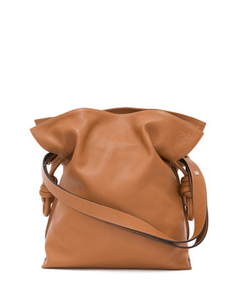 Flamenco Knot Bucket Bag, Tan