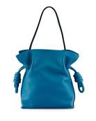 Flamenco Small Knot Bucket Bag, Light Blue