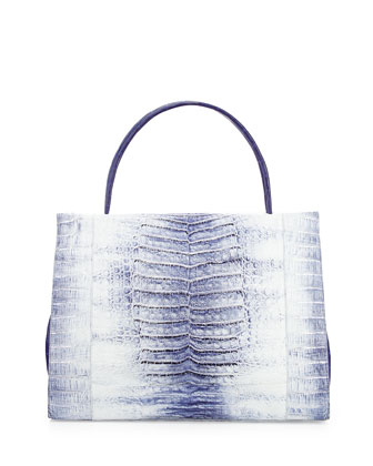 Wallis Tie-Dye Crocodile Tote Bag, Blue Multi