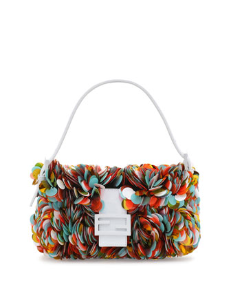 Paillette Baguette Shoulder Bag, Multicolor