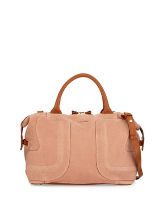 Kay Medium Satchel Bag, Nougat