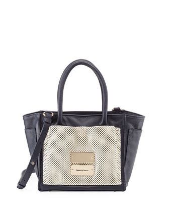 Nellie Small Zip Tote Bag, Midnight