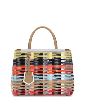 2Jours Mini Raffia Shopping Tote, Multi