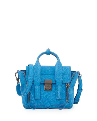 Pashli Mini Satchel Bag, Azure