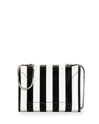 Soleil Striped Mini Shoulder Bag