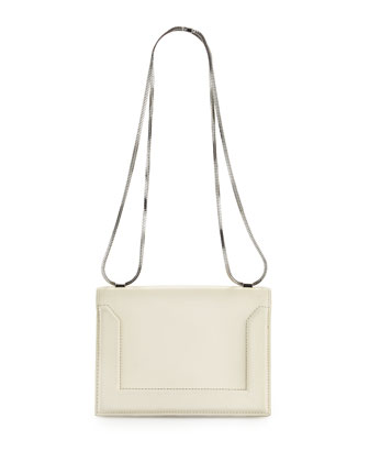 Soleil Mini Chain Shoulder Bag, Off White