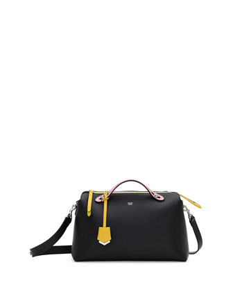 By The Way Medium Satchel Bag, Black/Multi
