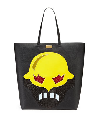 Super Hero Tote Bag, Black/Yellow