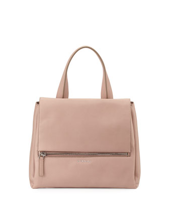 Pandora Pure Medium Leather Satchel Bag, Pale Pink